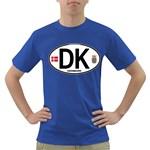 DK - Denmark Euro Oval Dark T-Shirt