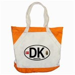 DK - Denmark Euro Oval Accent Tote Bag