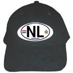 NL - Netherlands Euro Oval Black Cap