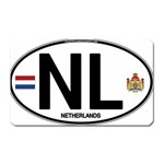 NL - Netherlands Euro Oval Magnet (Rectangular)
