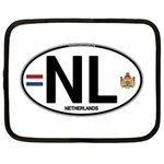 NL - Netherlands Euro Oval Netbook Case (XL)