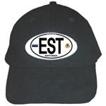 EST - Estonia Euro Oval Black Cap