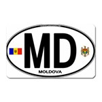 MD - Moldova Euro Oval Magnet (Rectangular)