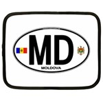 MD - Moldova Euro Oval Netbook Case (XL)