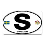 S - Sweden Euro Oval Magnet (Rectangular)