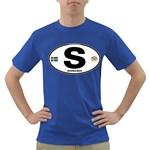 S - Sweden Euro Oval Dark T-Shirt