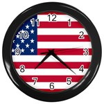 American Flag Wall Clock (Black)