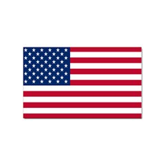 American Flag Sticker Rectangular (100 pack) from intlgiftshop.com Front