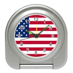 American Flag Travel Alarm Clock
