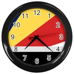 Seychellois Flag Wall Clock (Black)