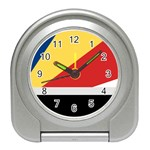 Seychellois Flag Travel Alarm Clock
