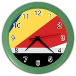 Seychellois Flag Color Wall Clock