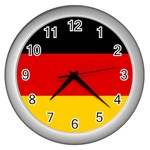 German Flag Wall Clock (Silver)