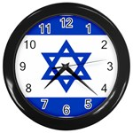 Israeli Flag Wall Clock (Black)