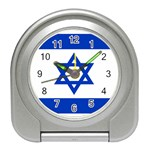 Israeli Flag Travel Alarm Clock