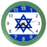 Israeli Flag Color Wall Clock
