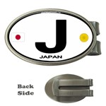 J - Japan Euro Oval Money Clip (Oval)