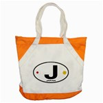 J - Japan Euro Oval Accent Tote Bag