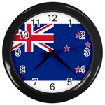 New Zealand Flag Wall Clock (Black)