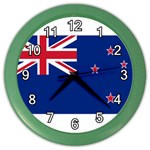 New Zealand Flag Color Wall Clock