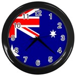Australian Flag Wall Clock (Black)