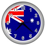 Australian Flag Wall Clock (Silver)