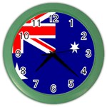 Australian Flag Color Wall Clock