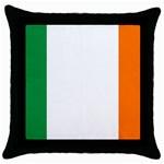 Irish Flag Throw Pillow Case (Black)