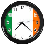 Irish Flag Wall Clock (Black)
