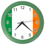 Irish Flag Color Wall Clock