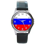 Russian Flag Round Metal Watch