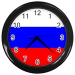 Russian Flag Wall Clock (Black)