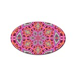 Pink Kaleidescope Fractal Sticker Oval (100 pack)