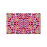 Pink Kaleidescope Fractal Sticker Rectangular (100 pack)