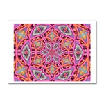 Pink Kaleidescope Fractal Sticker A4 (10 pack)