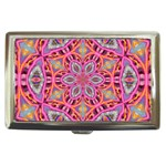 Pink Kaleidescope Fractal Cigarette Money Case