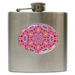 Pink Kaleidescope Fractal Hip Flask (6 oz)