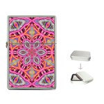 Pink Kaleidescope Fractal Flip Top Lighter