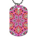 Pink Kaleidescope Fractal Dog Tag (Two Sides)