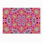 Pink Kaleidescope Fractal Postcards 5  x 7  (Pkg of 10)