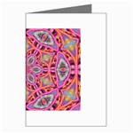 Pink Kaleidescope Fractal Greeting Card