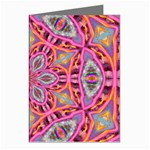 Pink Kaleidescope Fractal Greeting Cards (Pkg of 8)
