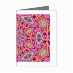 Pink Kaleidescope Fractal Mini Greeting Card