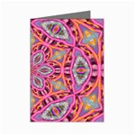 Pink Kaleidescope Fractal Mini Greeting Cards (Pkg of 8)