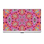 Pink Kaleidescope Fractal Business Card Holder
