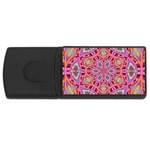 Pink Kaleidescope Fractal USB Flash Drive Rectangular (1 GB)