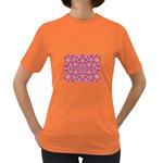 Pink Kaleidescope Fractal Women s Dark T-Shirt
