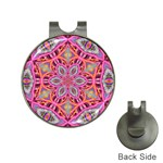 Pink Kaleidescope Fractal Golf Ball Marker Hat Clip