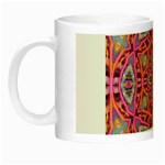 Pink Kaleidescope Fractal Night Luminous Mug