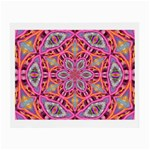Pink Kaleidescope Fractal Glasses Cloth (Small)